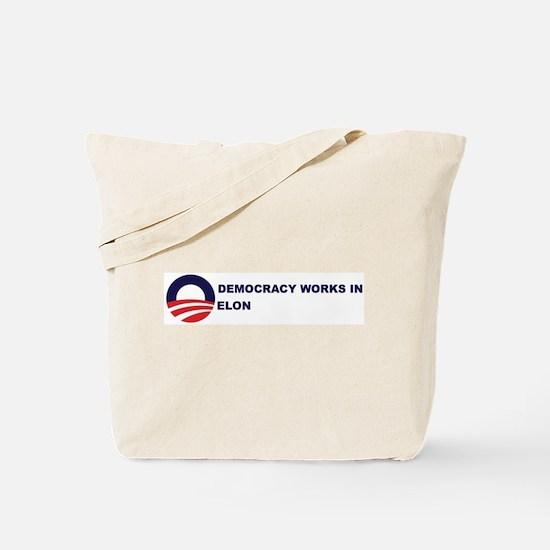Democracy Works in ELON Tote Bag