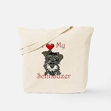 Cute Schnauzer Tote Bag