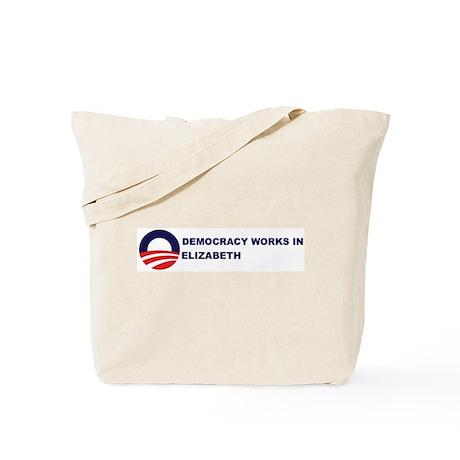 Democracy Works in ELIZABETH Tote Bag