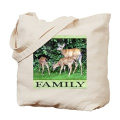 Deer Family Tote Bag