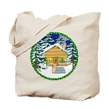 Old Fashioned Yorkie Christmas Tote Bag