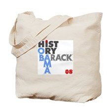 Barack Obama Makes History Tote Bag