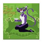 Jazz Cat! Tile Coaster