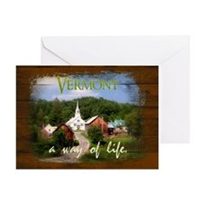 Vermont A Way of Life Greeting Card