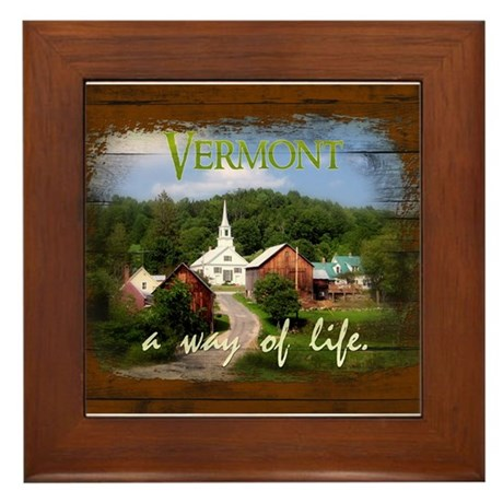 Vermont A Way of Life Framed Tile