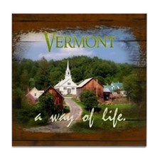 Vermont A Way of Life Tile Coaster