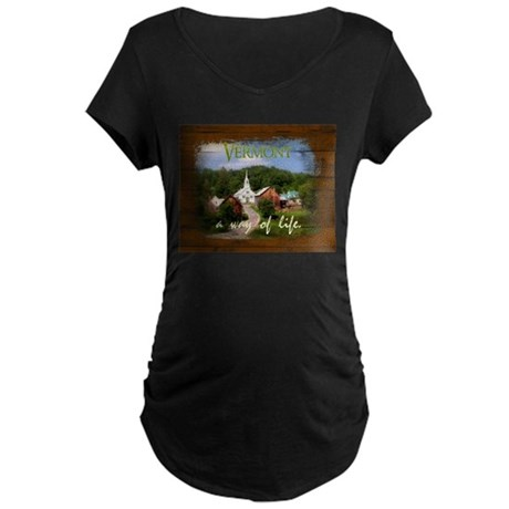 Vermont A Way of Life Maternity Dark T-Shirt