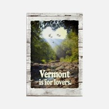 Vermont is for Lovers Rectangle Magnet