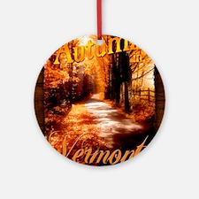Autumn in Vermont Ornament (Round)