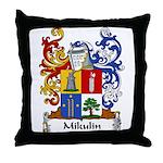Mikulin Family Crest Throw Pillow