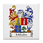 Mikulin Family Crest Tile Coaster