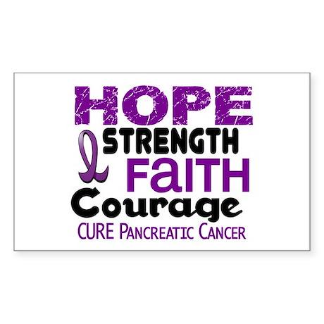 HOPE Pancreatic Cancer 3 Rectangle Sticker