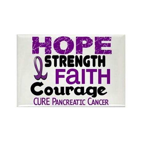HOPE Pancreatic Cancer 3 Rectangle Magnet (100 pac