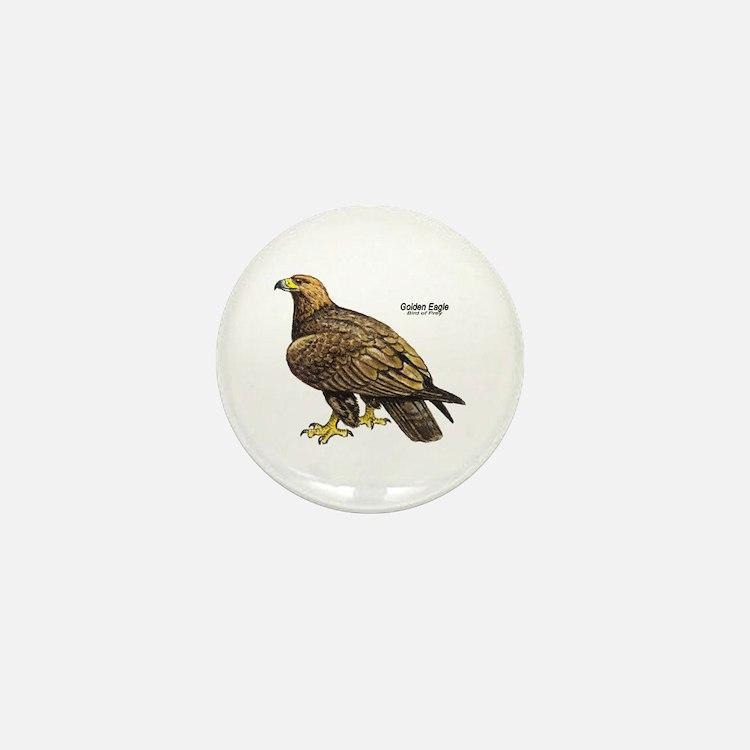 Golden Eagle Bird Mini Button