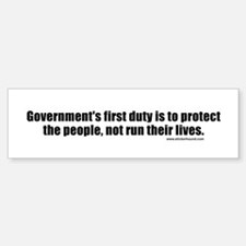 Government's First Duty Bumper Bumper Bumper Sticker
