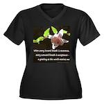 Zen Reverence Women's Plus Size V-Neck Dark T-Shir