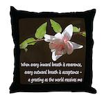 Zen Reverence Throw Pillow