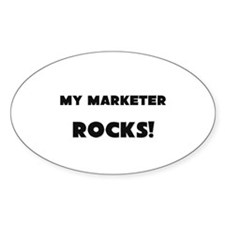 MY Marketer ROCKS! Oval Decal