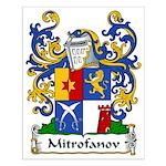 Mitrofanov Family Crest Small Poster