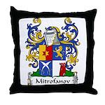 Mitrofanov Family Crest Throw Pillow
