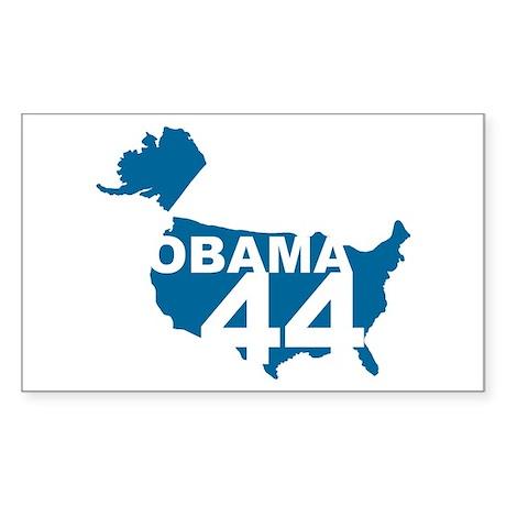 Retro Obama 44 Rectangle Sticker