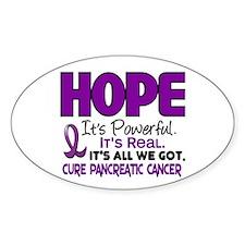HOPE Pancreatic Cancer 1 Oval Decal