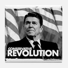 conservative revolution Tile Coaster