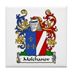 Molchanov Family Crest Tile Coaster