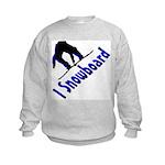I Snowboard Kids Sweatshirt