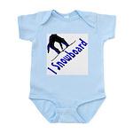 I Snowboard Infant Bodysuit
