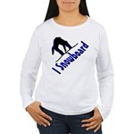 I Snowboard Women's Long Sleeve T-Shirt
