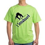 I Snowboard Green T-Shirt