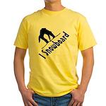 I Snowboard Yellow T-Shirt