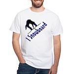 I Snowboard White T-Shirt