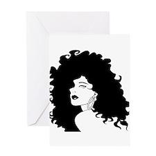 Sexy Lady Black Greeting Card