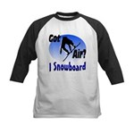 I Snowboard Kids Baseball Jersey