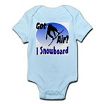 I Snowboard Infant Bodysuit