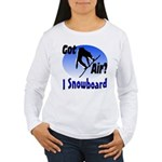 I Snowboard Women's Long Sleeve T-Shirt