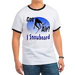 I Snowboard Ringer T