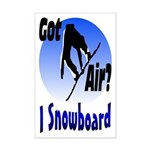 I Snowboard Mini Poster Print