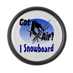 I Snowboard Large Wall Clock
