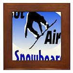 I Snowboard Framed Tile