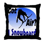 I Snowboard Throw Pillow