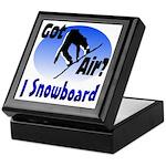 I Snowboard Keepsake Box