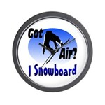 I Snowboard Wall Clock