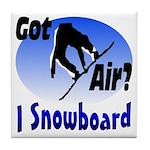 I Snowboard Tile Coaster