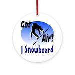 I Snowboard Ornament (Round)