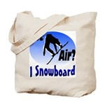 I Snowboard Tote Bag