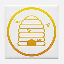 Bee HIve Yellow Tile Coaster