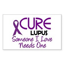 CURE Lupus 2 Rectangle Stickers